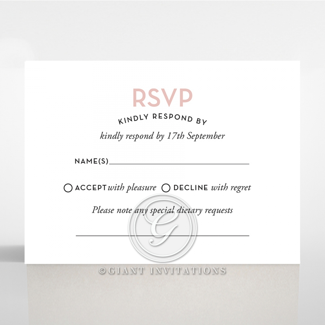 Pink Chic Charm Paper rsvp card design