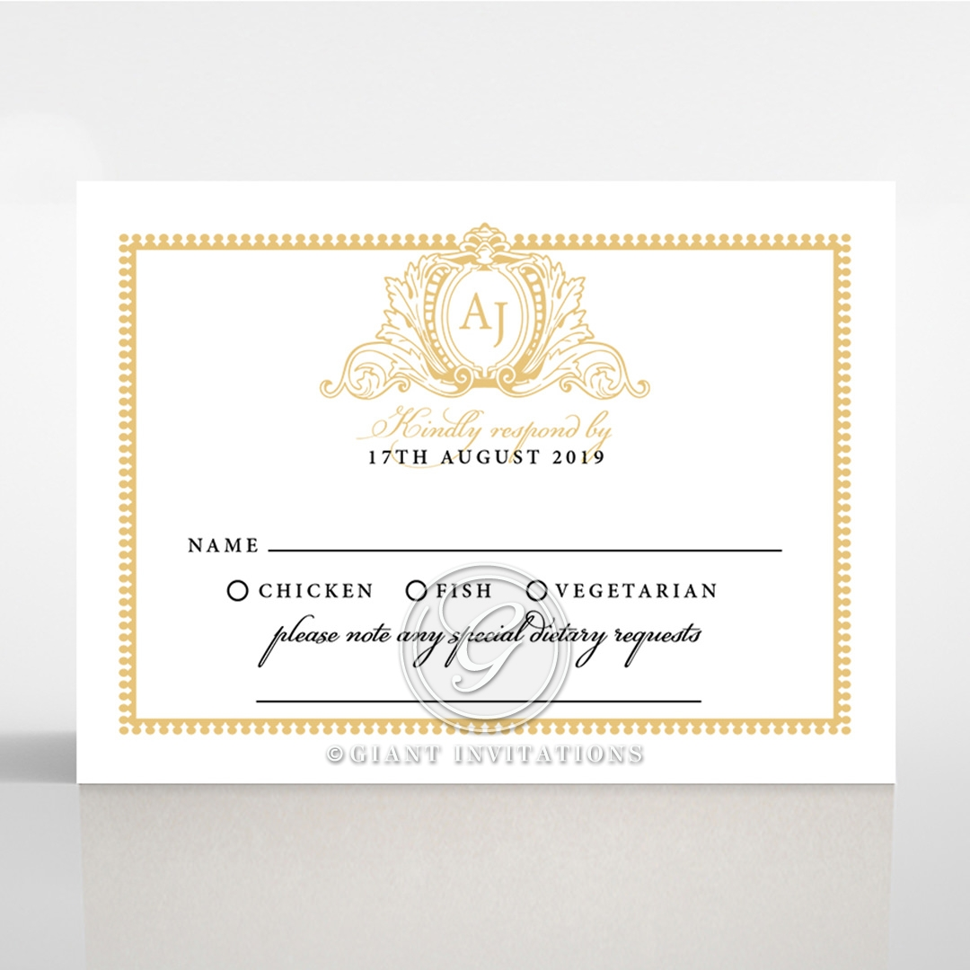 Royal Lace rsvp wedding enclosure card design