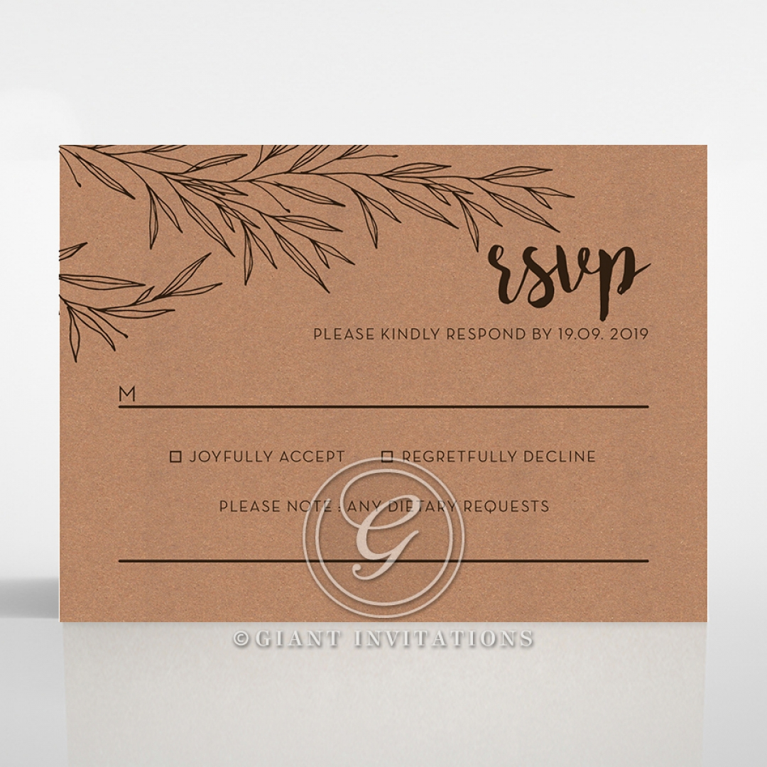 Springtime Love rsvp wedding enclosure card