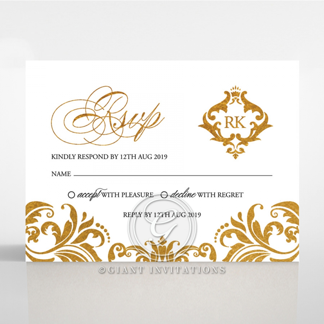 Victorian Extravagance with Foil rsvp wedding enclosure card