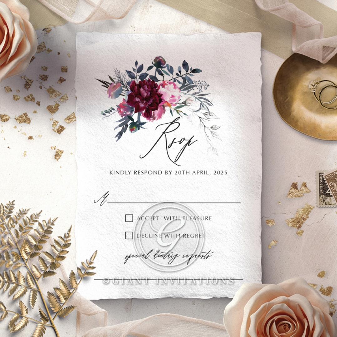 Watercolor Rose Garden rsvp invite