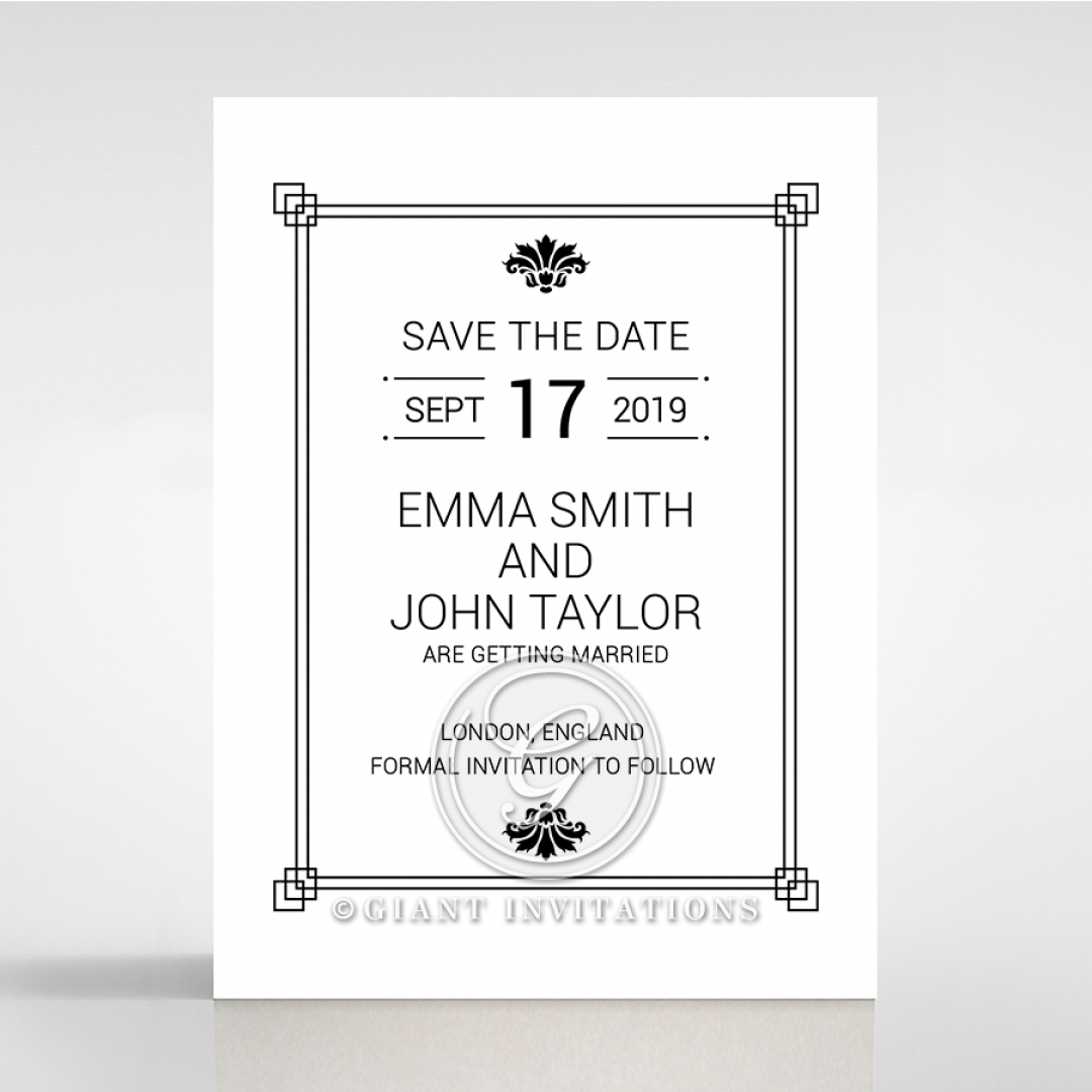 Paper Gilded Decadence save the date invitation card design