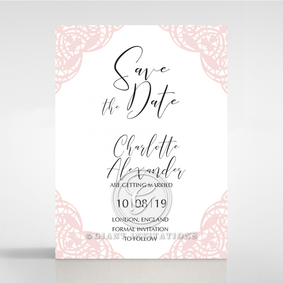 Rustic Elegance save the date invitation stationery card item