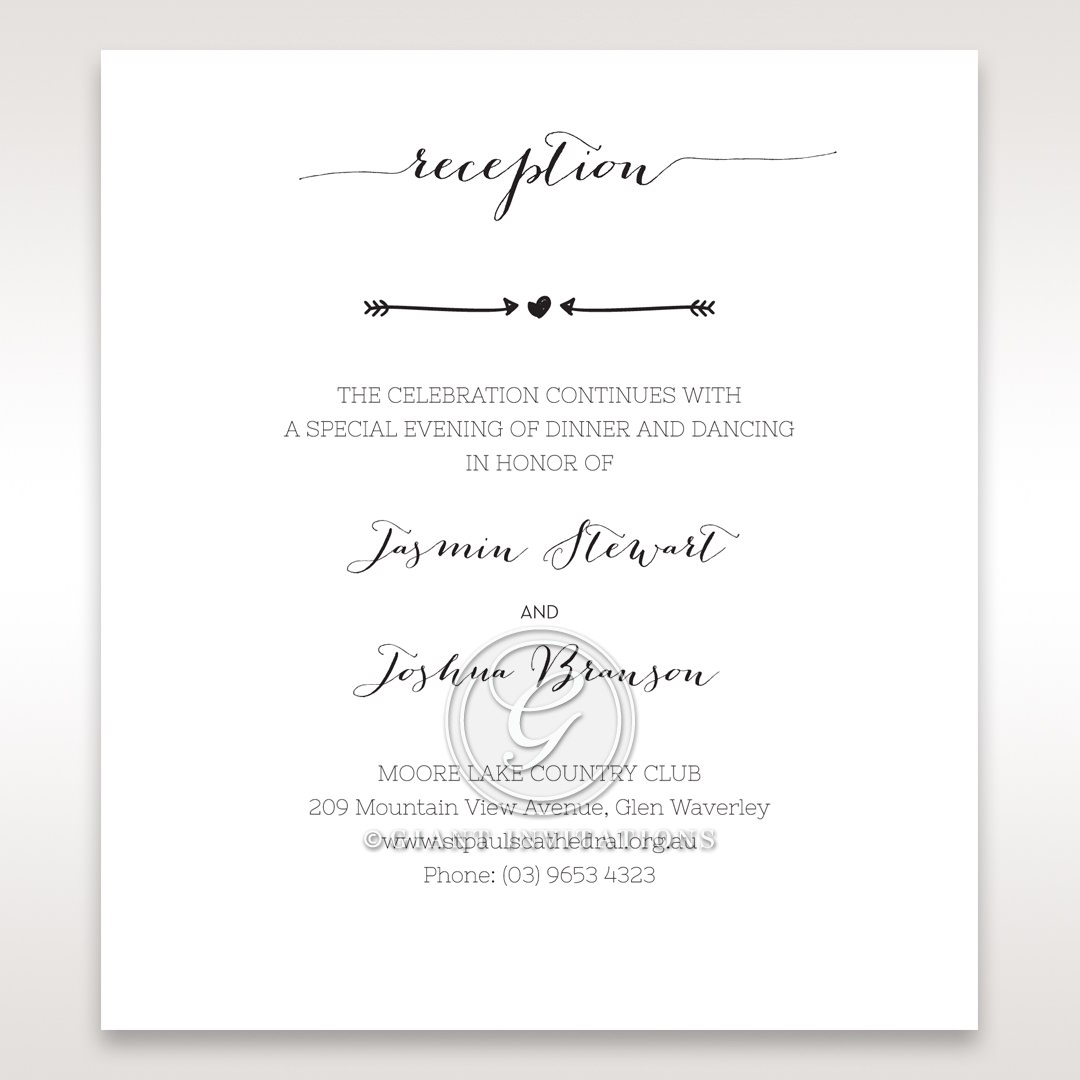 Simply Rustic Reception card in Ivory DC115085