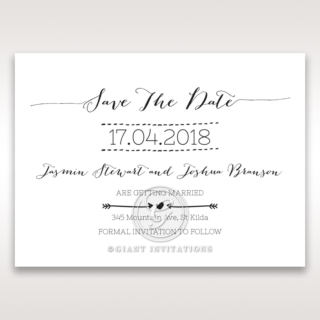 Simply Rustic Save the date in Ivory DS115085