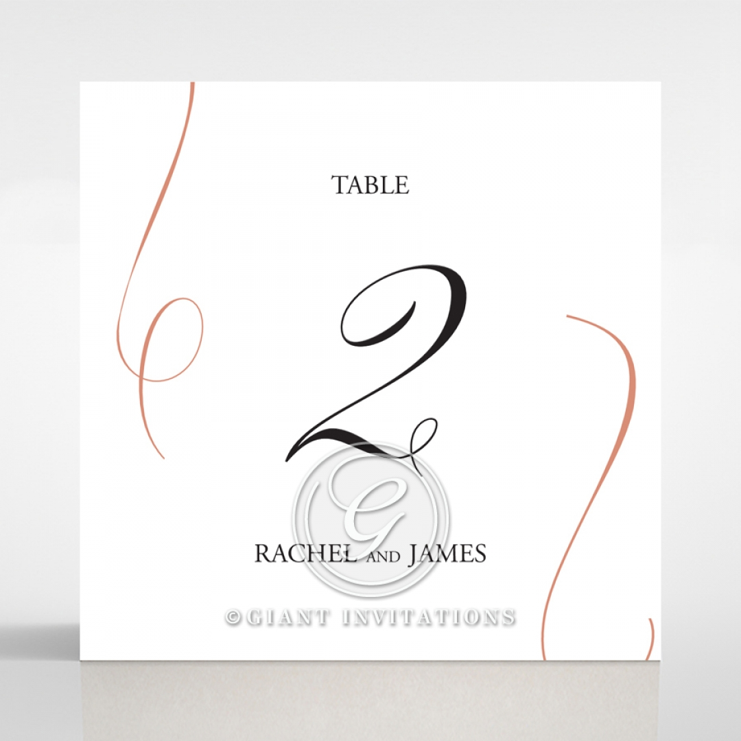 A Polished Affair wedding venue table number card stationery design