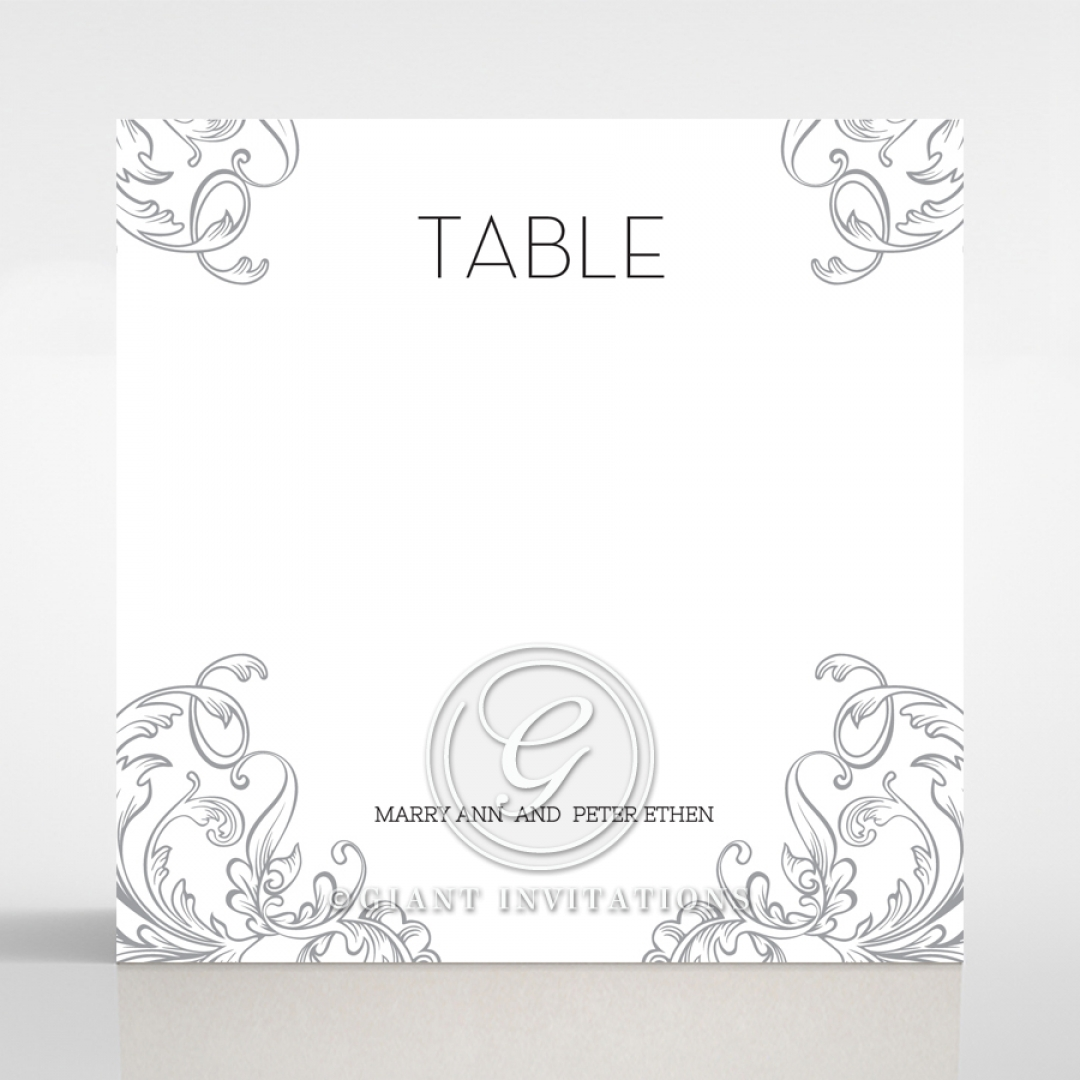 Aristocrat wedding venue table number card stationery