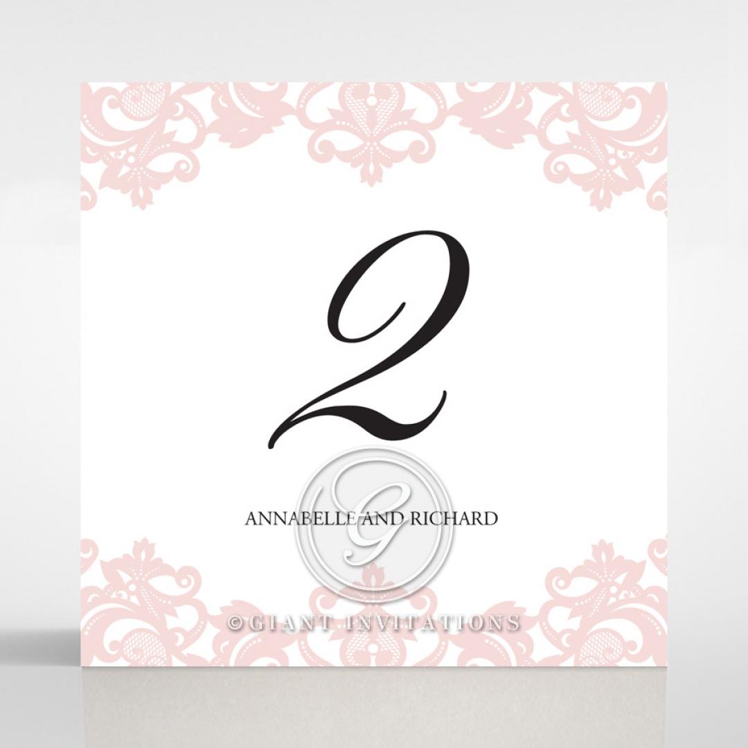 Baroque Pocket wedding venue table number card stationery design