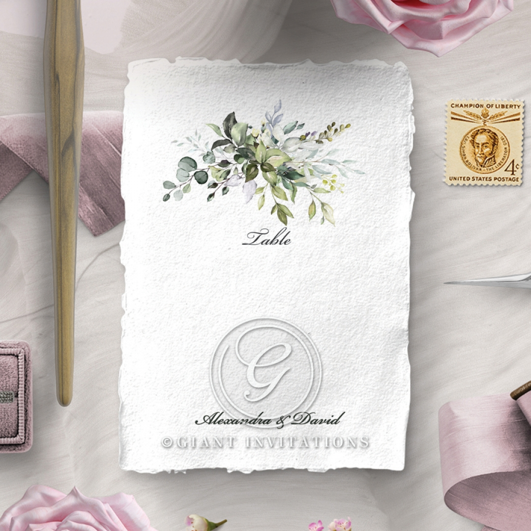 Beautiful Devotion reception table number card