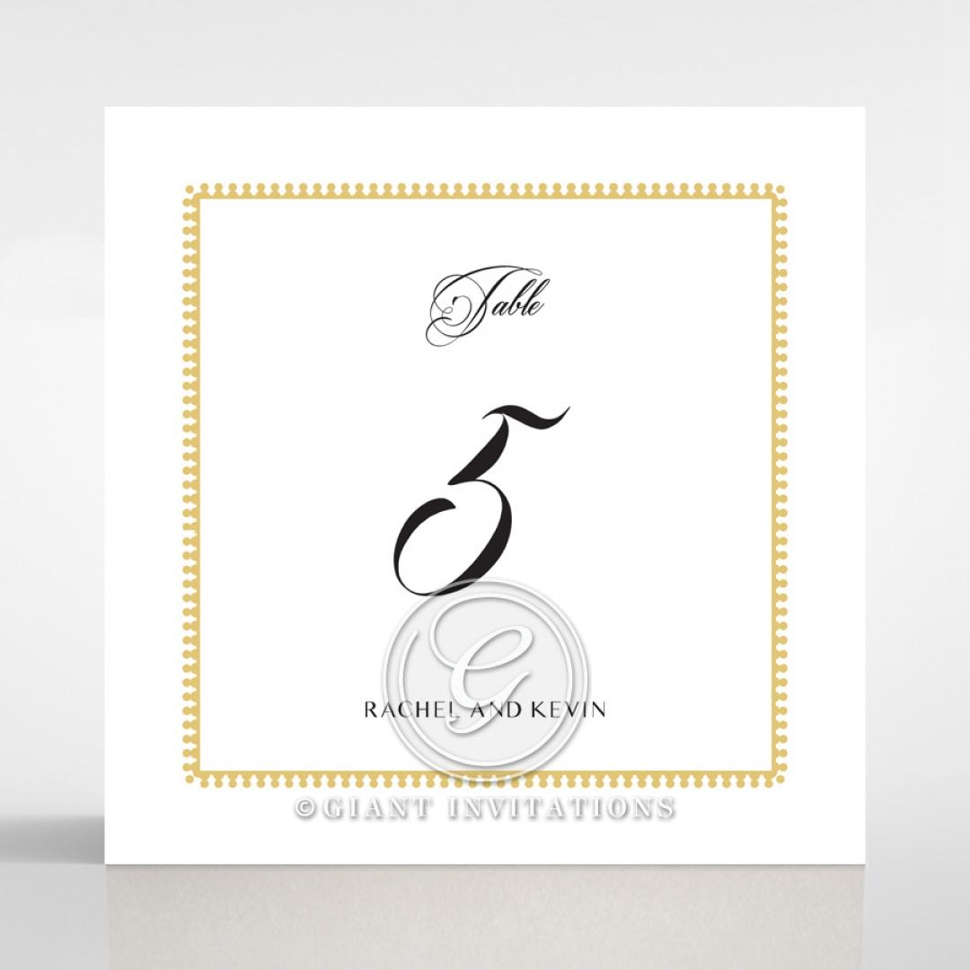 Black Doily Elegance wedding venue table number card