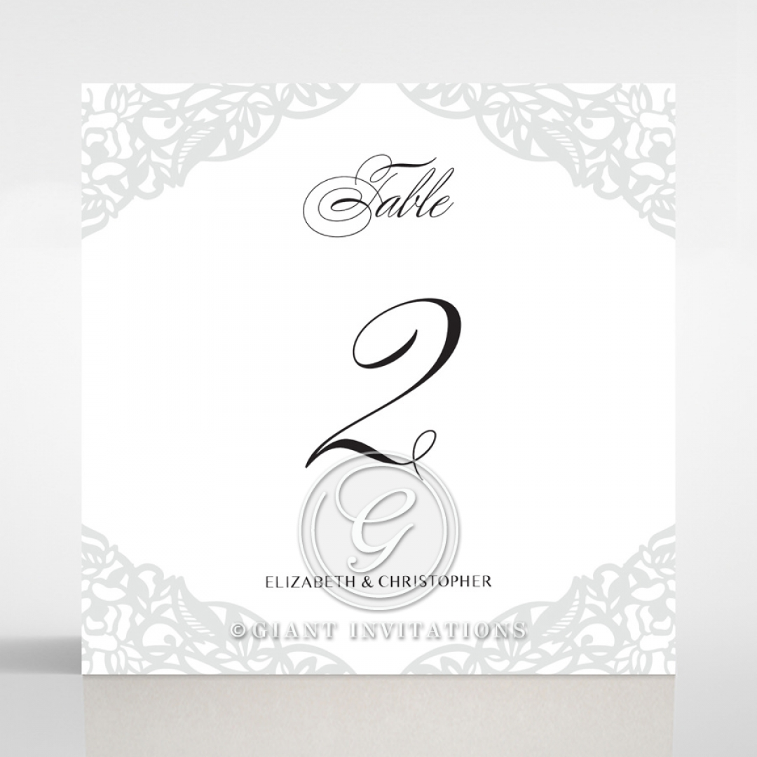 Black Floral Lux reception table number card design