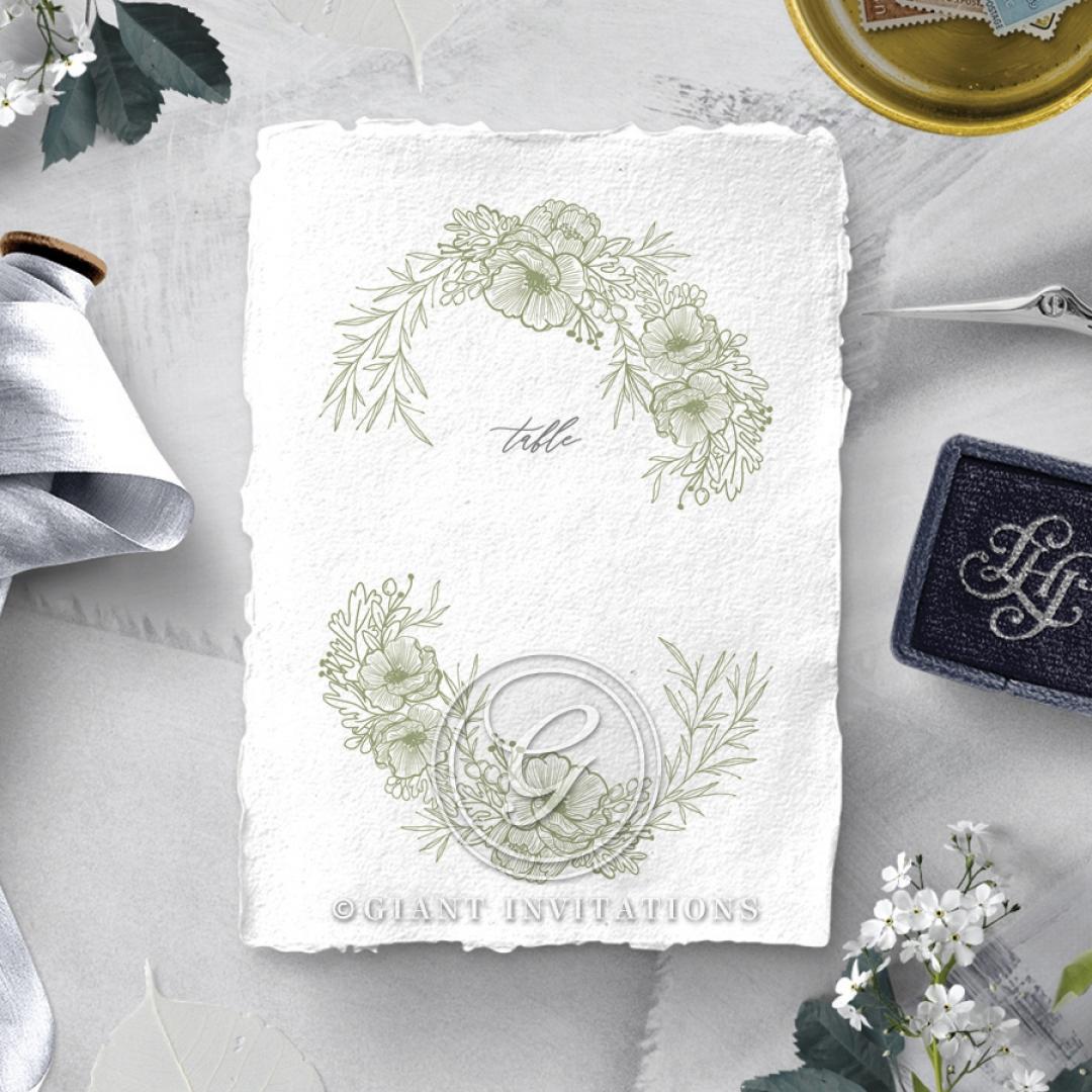 Love Estate wedding venue table number card design