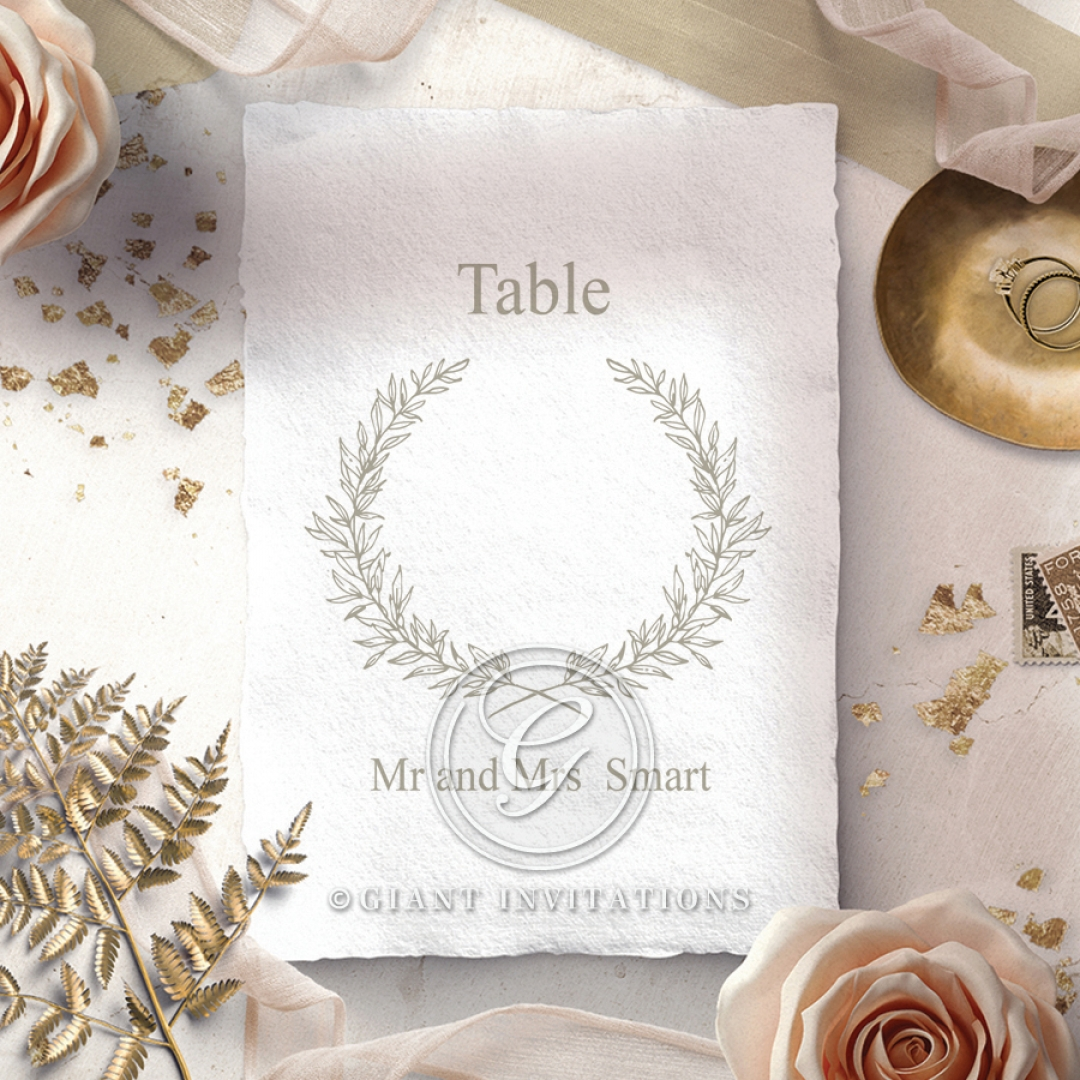 Preppy Wreath table number card stationery item