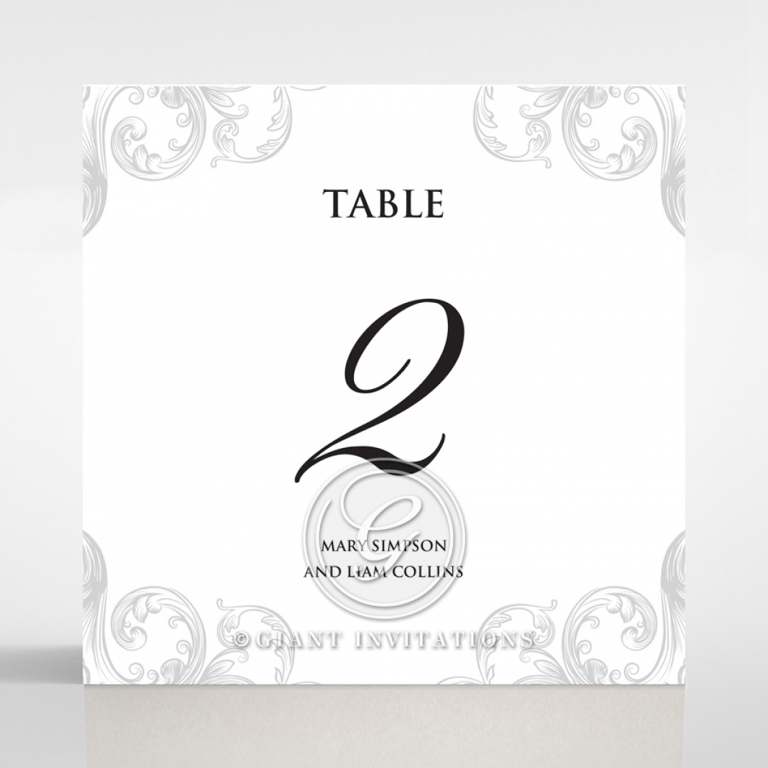 Regally Romantic wedding stationery table number card item