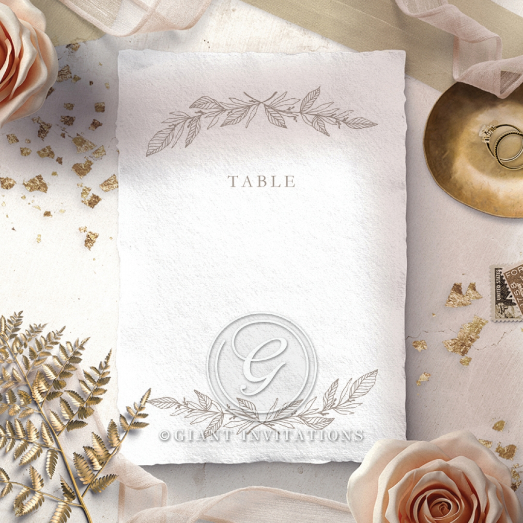 Simple Charm wedding venue table number card stationery
