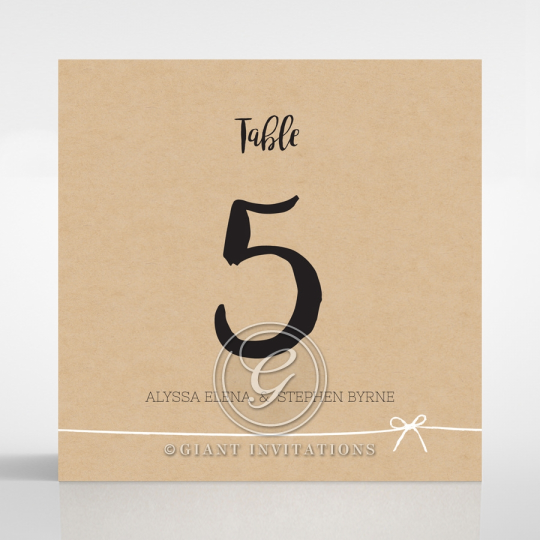 Sweetly Rustic wedding reception table number card