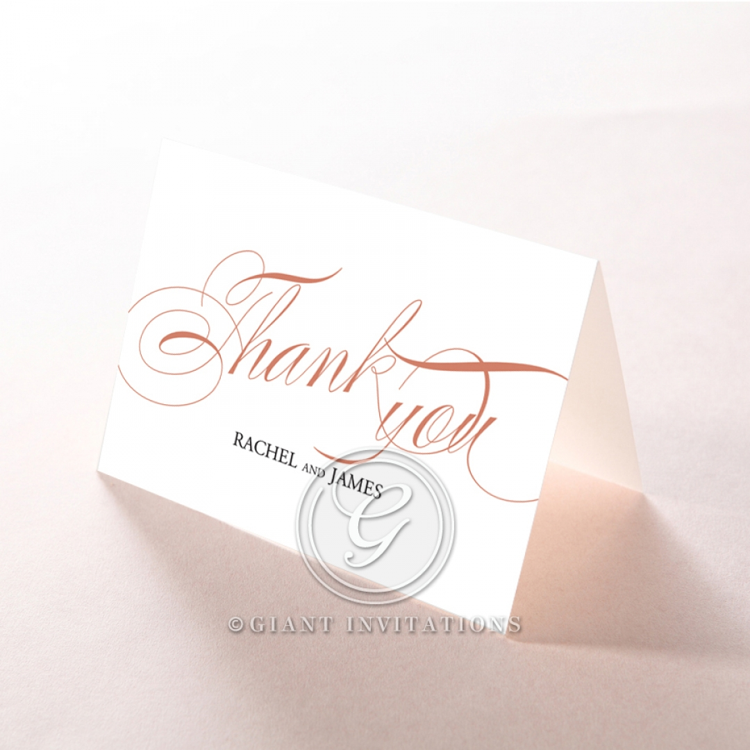 A Polished Affair wedding stationery thank you card