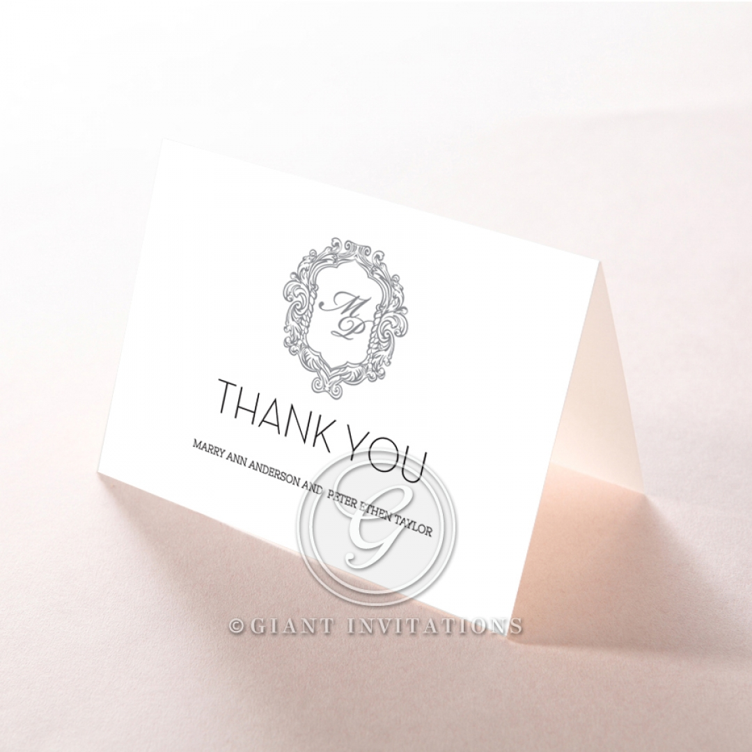 Aristocrat wedding thank you stationery card item