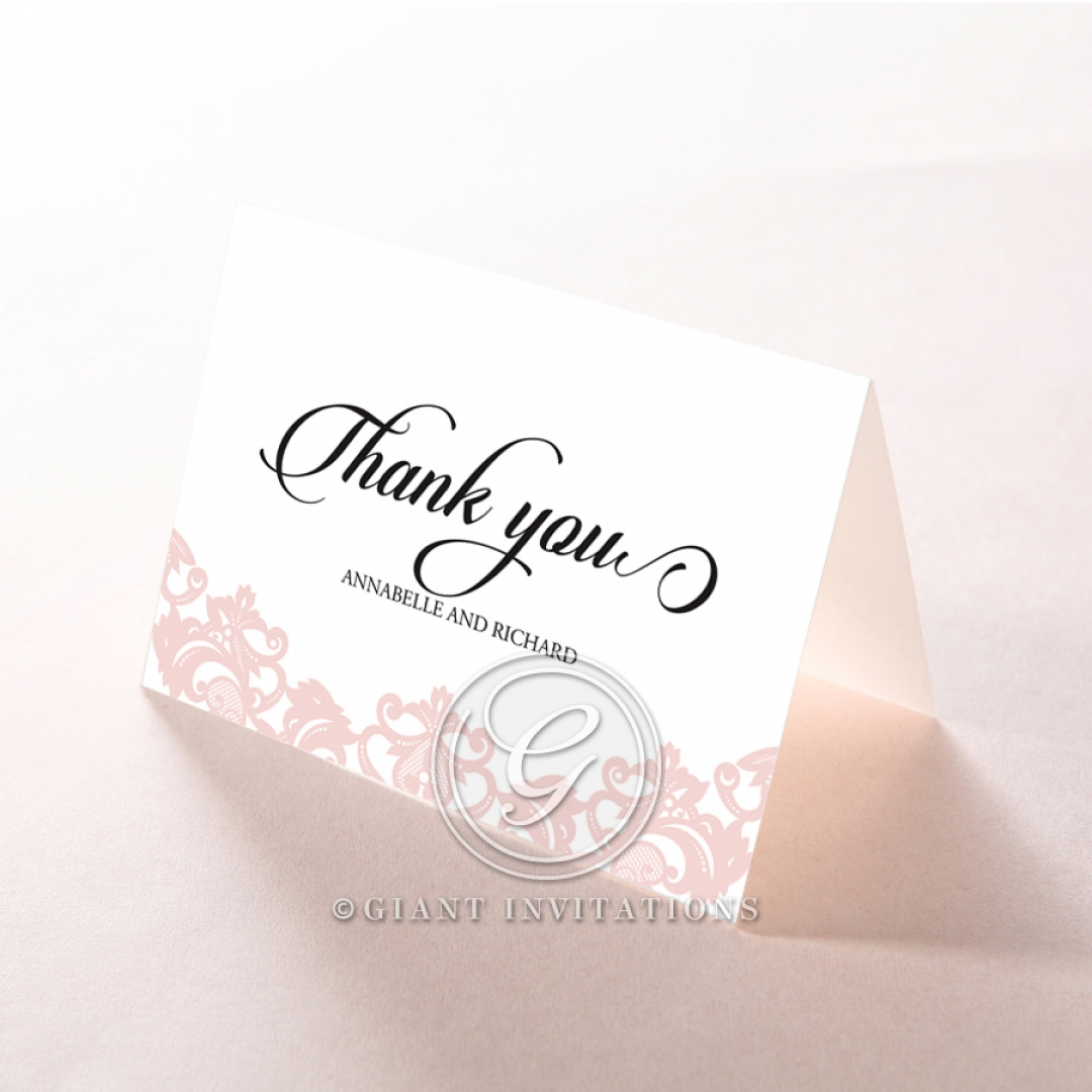 Baroque Pocket thank you wedding stationery card item