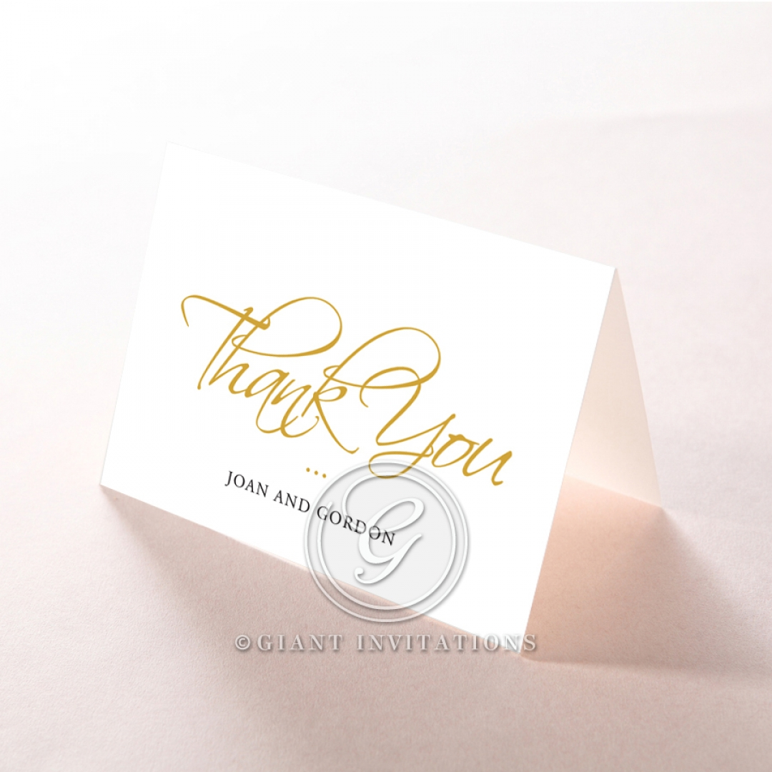 Diamond Drapery wedding thank you stationery card item