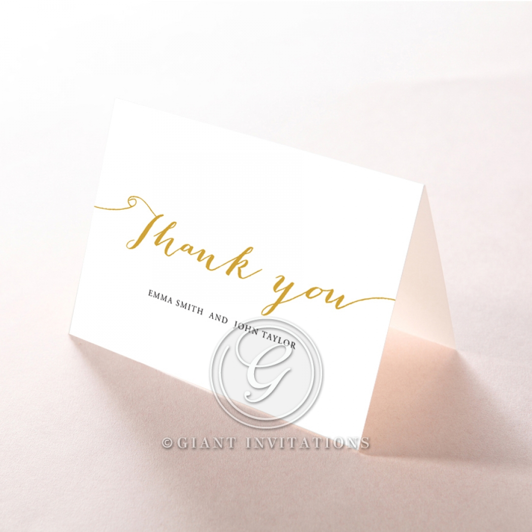 Infinity wedding thank you stationery card design