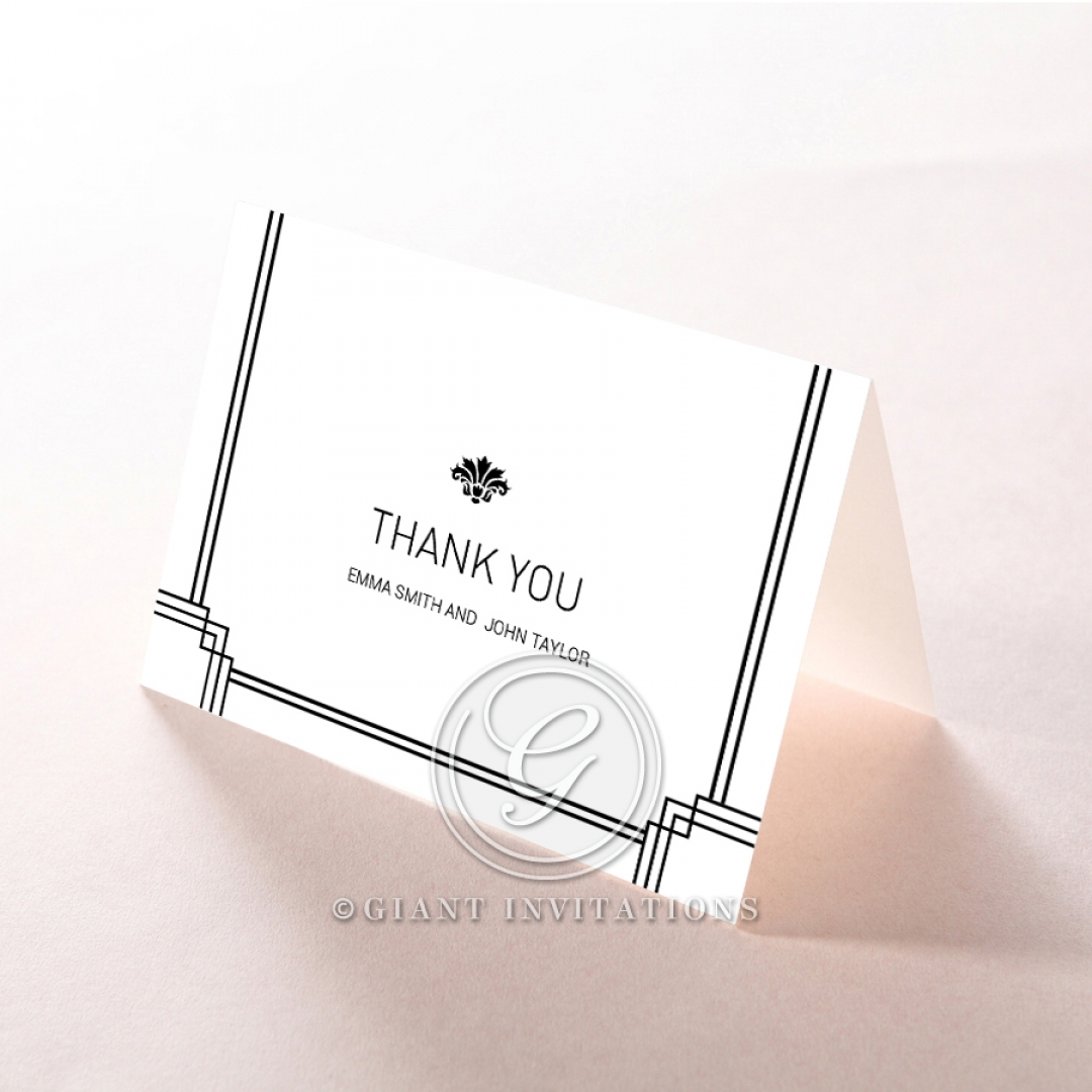 Paper Gilded Decadence thank you stationery card item