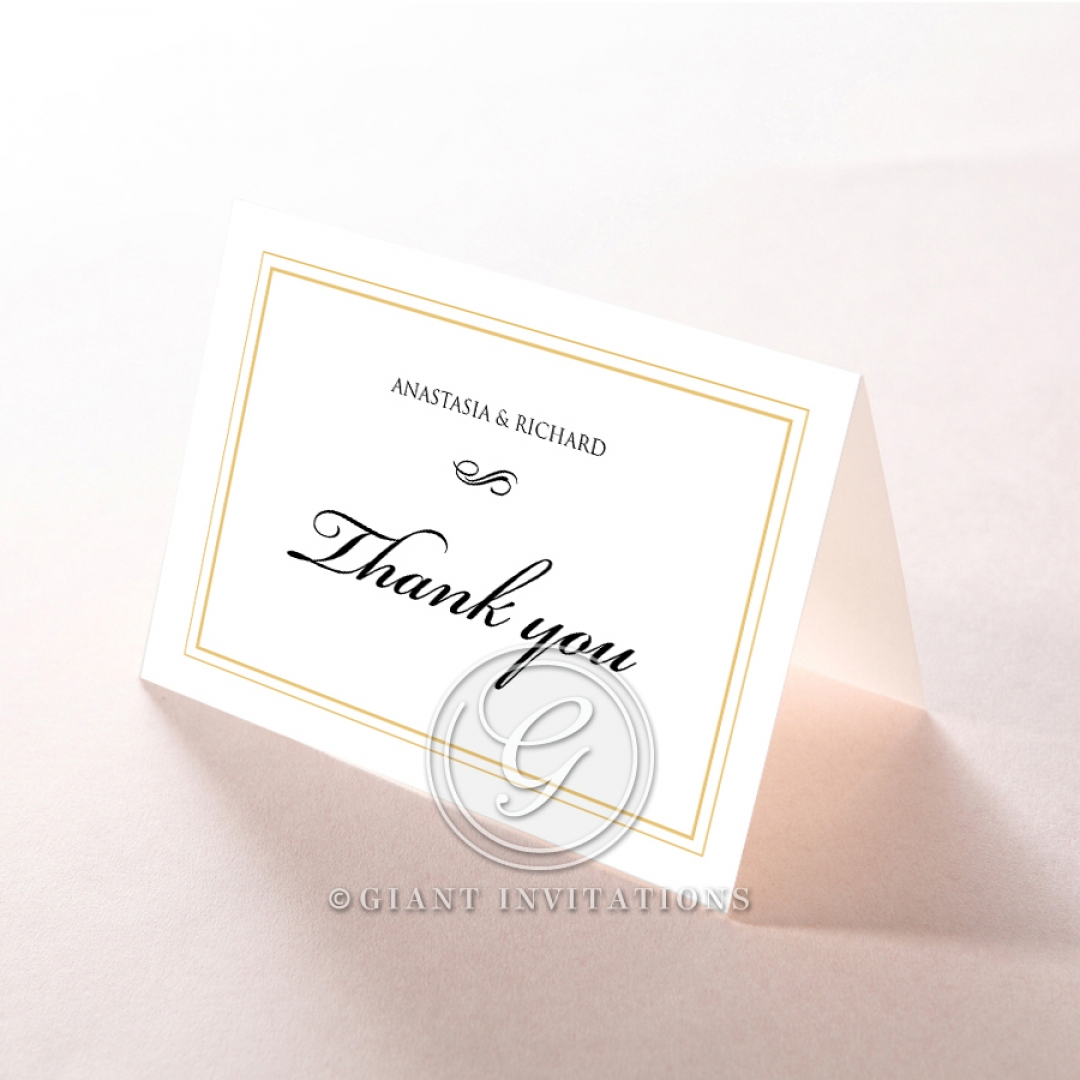 Quilted Letterpress Elegance thank you stationery card item