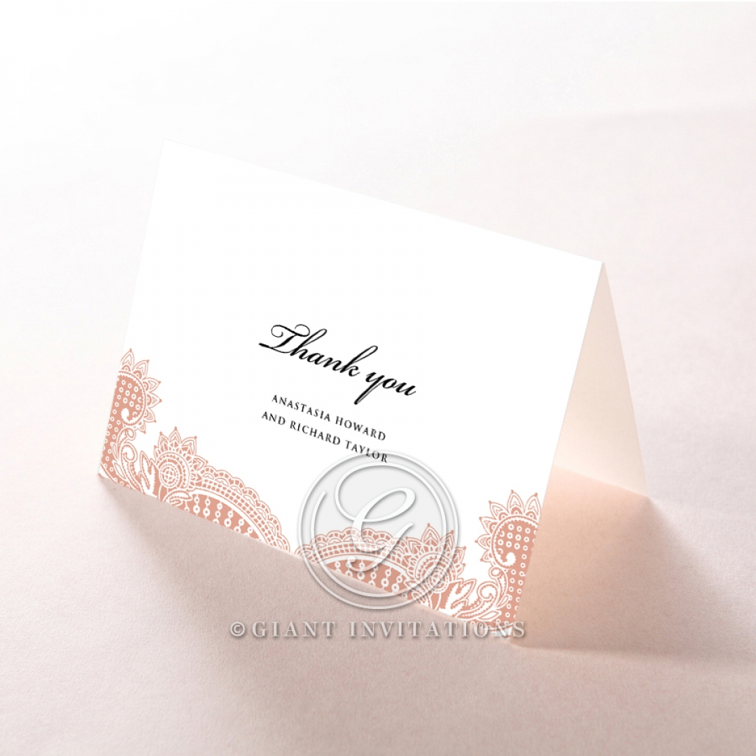 Regal Charm Letterpress wedding thank you card design