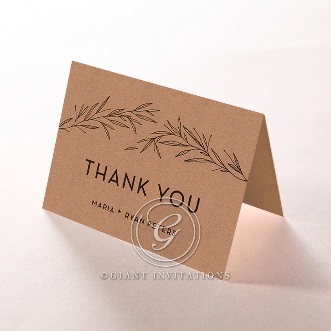 Rustic Oriental wedding thank you stationery card item