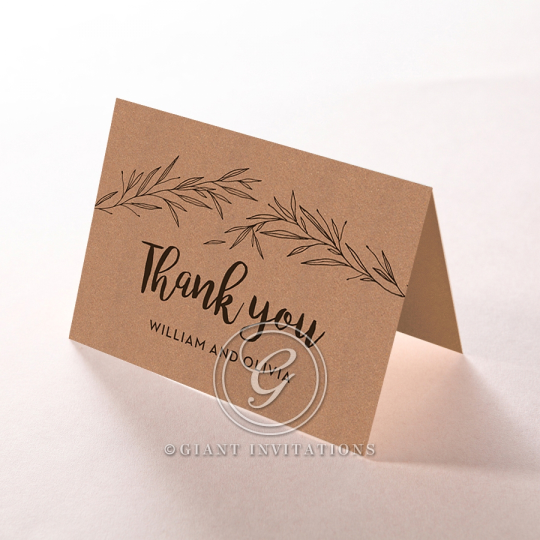 Springtime Love wedding stationery thank you card design