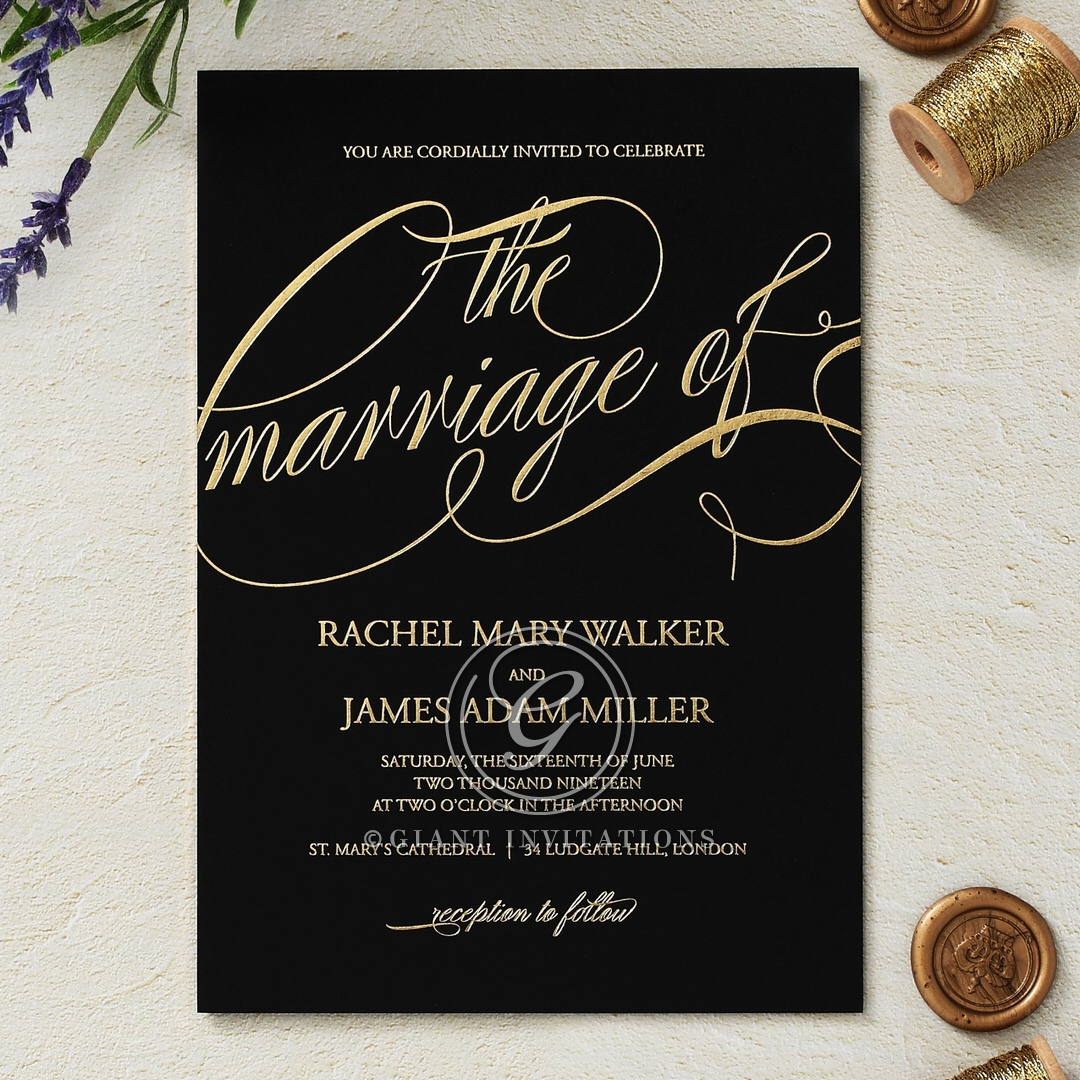 A Polished Affair Invite Card Design