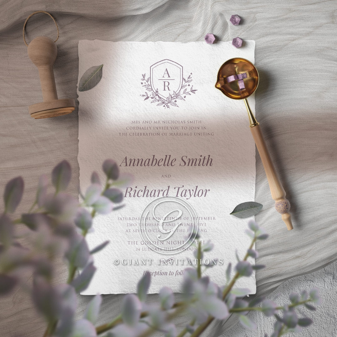 Ace of Spades with Deckled Edges Wedding Invite