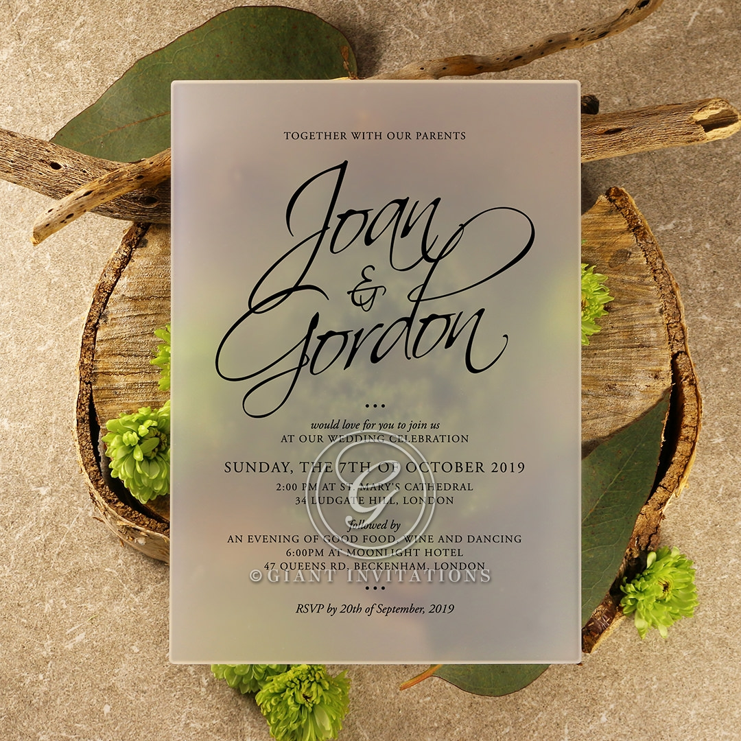 Acrylic Diamond Drapery Wedding Invitation