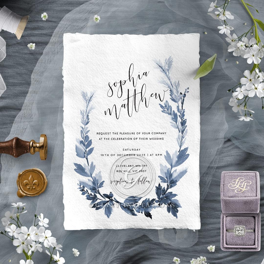 Blue Forest Invitation Design