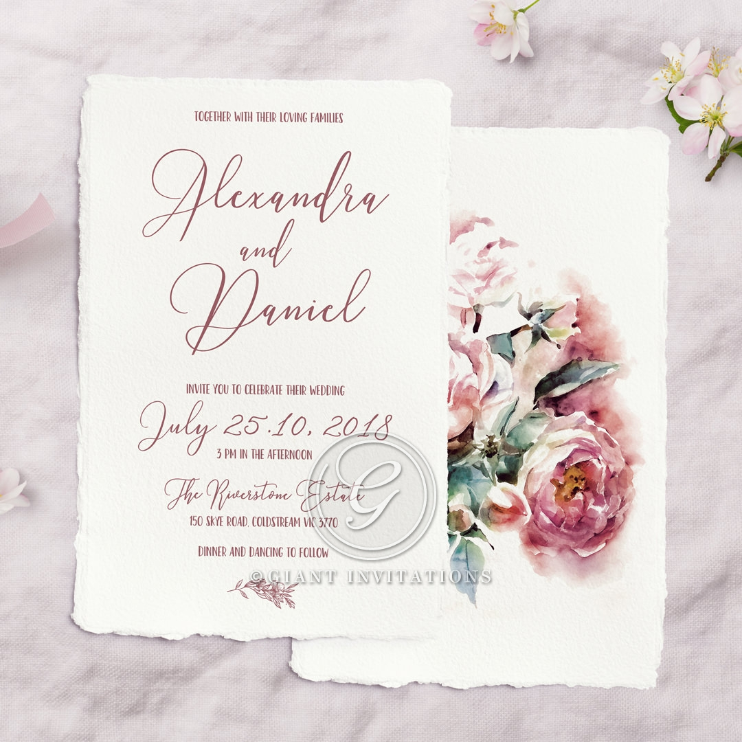 Bouquet of roses Invite Card