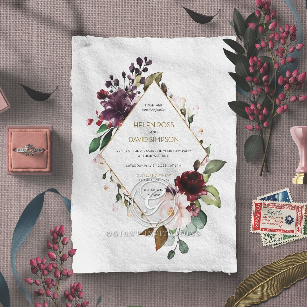Contemporary Love Stationery invite