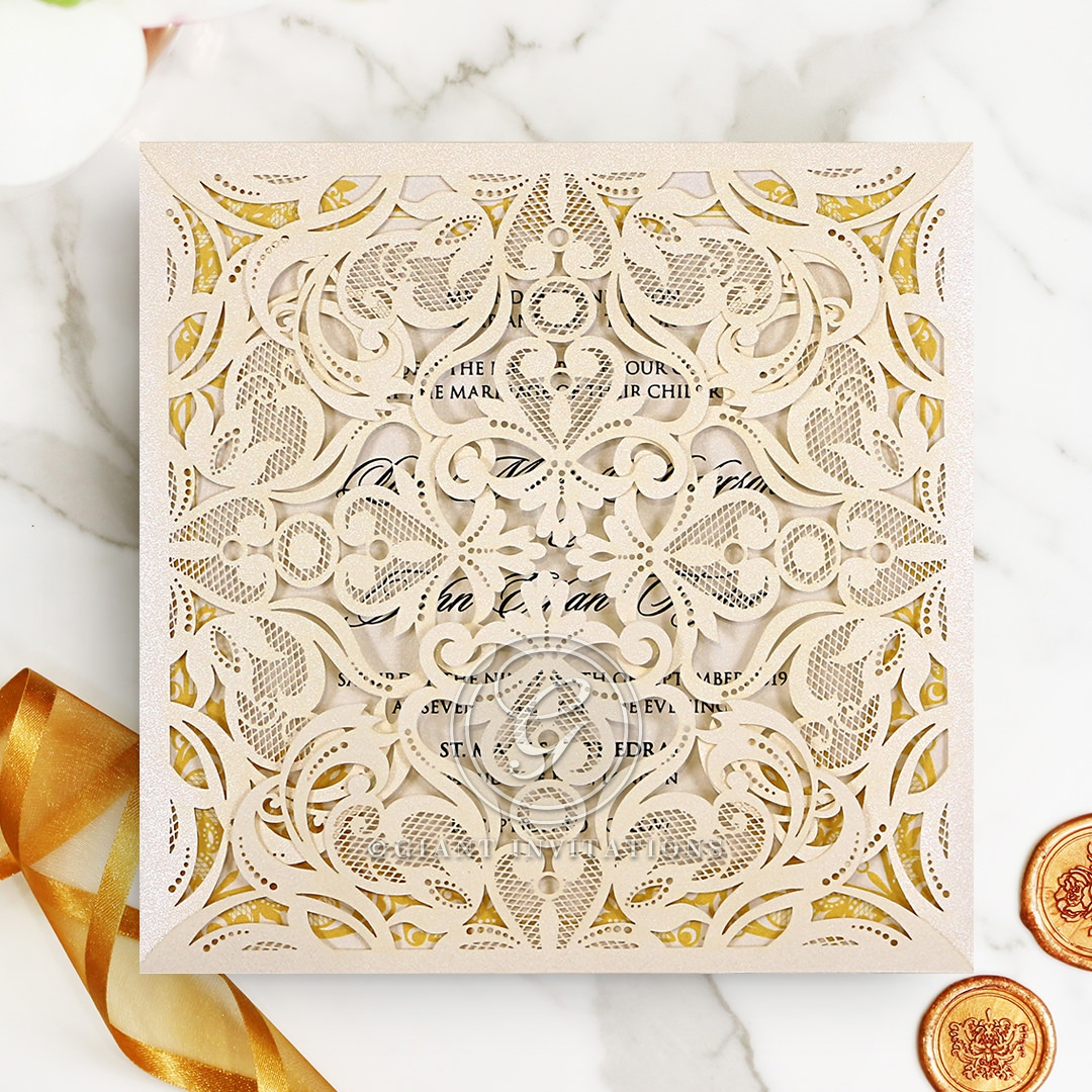 Divine Damask Invitation Design