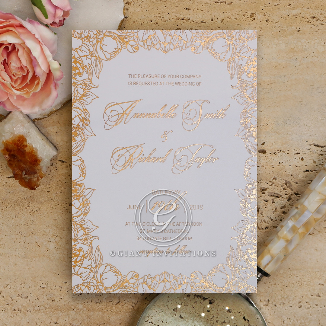 Bloom Framed Wedding Card | Luxurious Wedding Card
