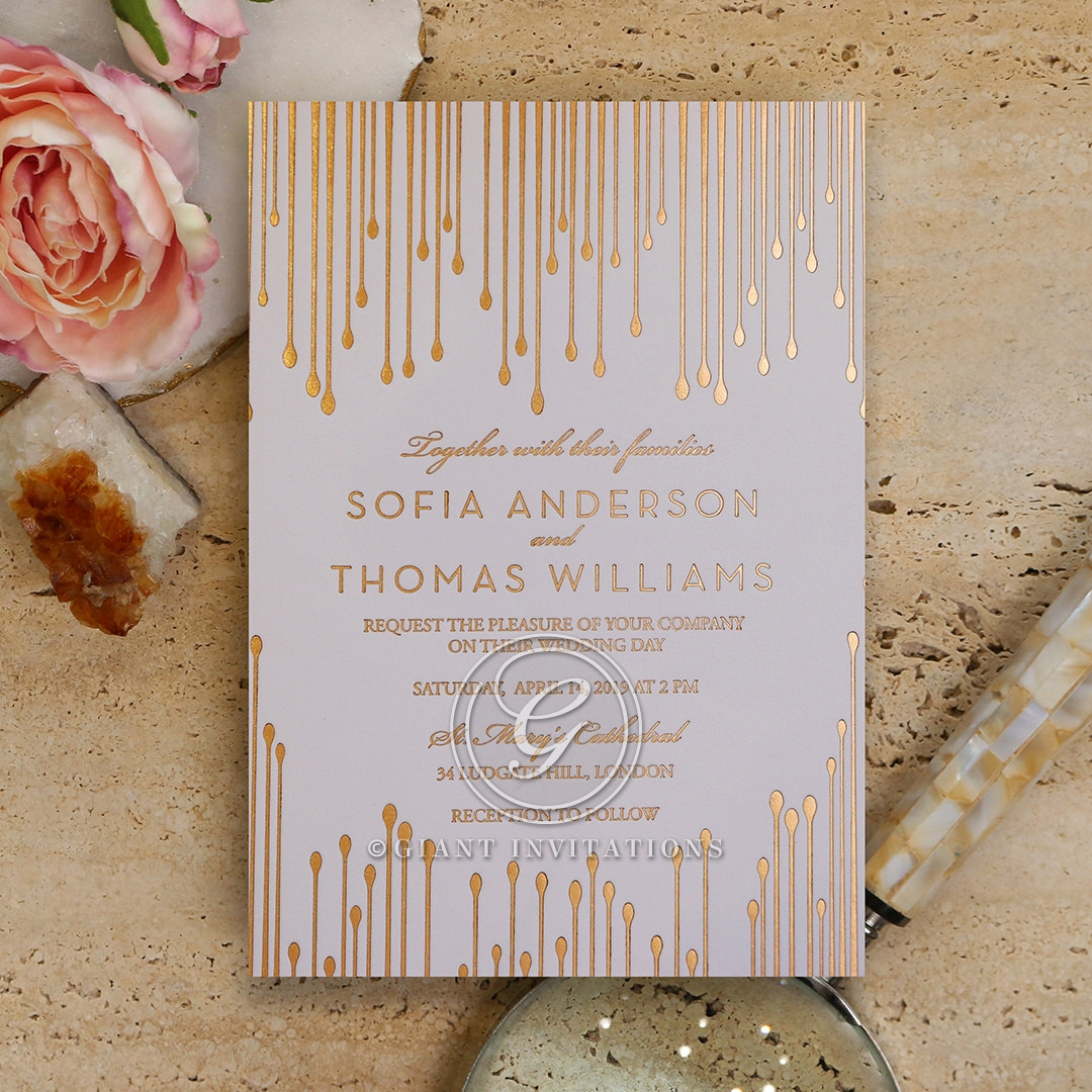 Luxe Intrigue Wedding Invite Card
