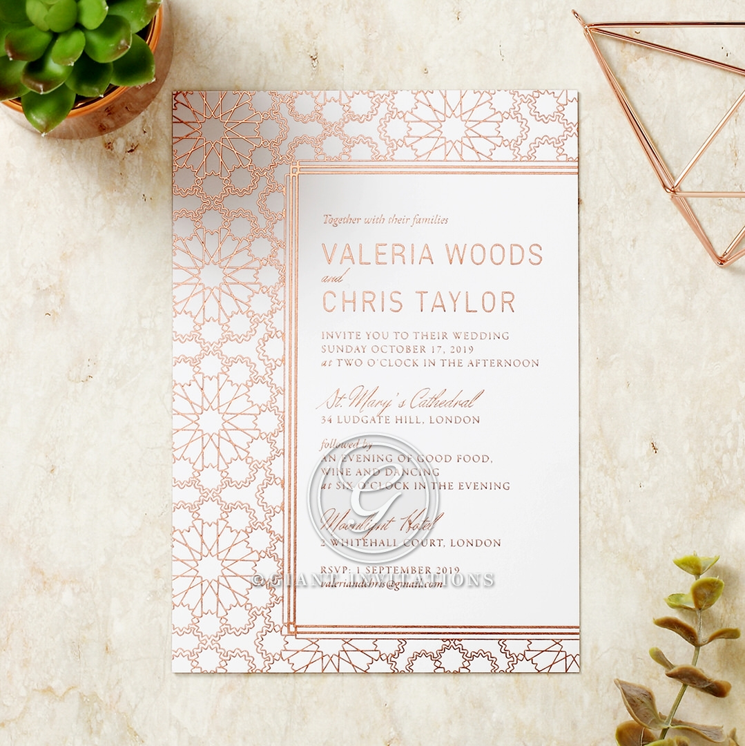 Mesmerising Moroccan Wedding Invite | Giant Invitations