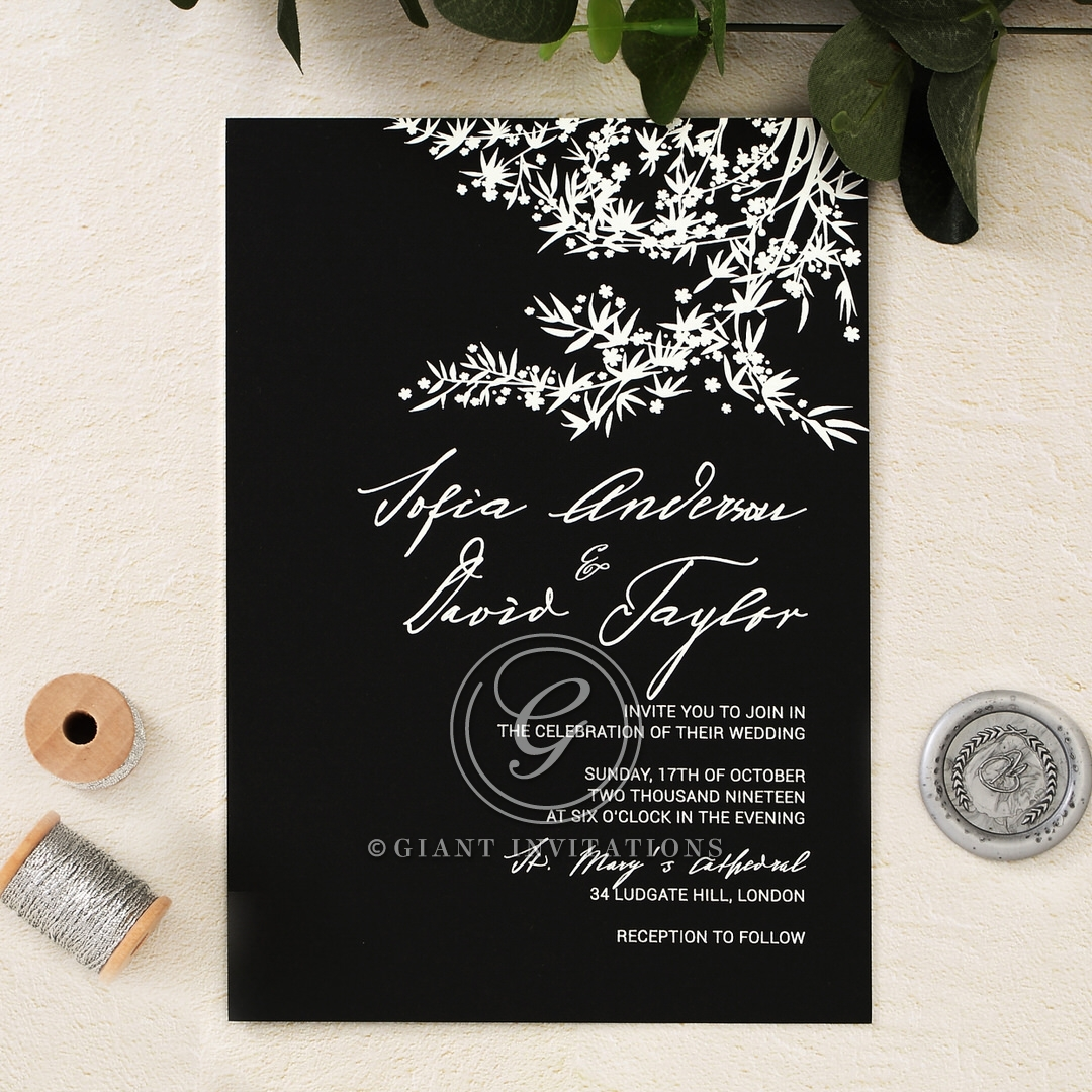 Timelessly Traditional Oriental-Inspired Nuptial Card