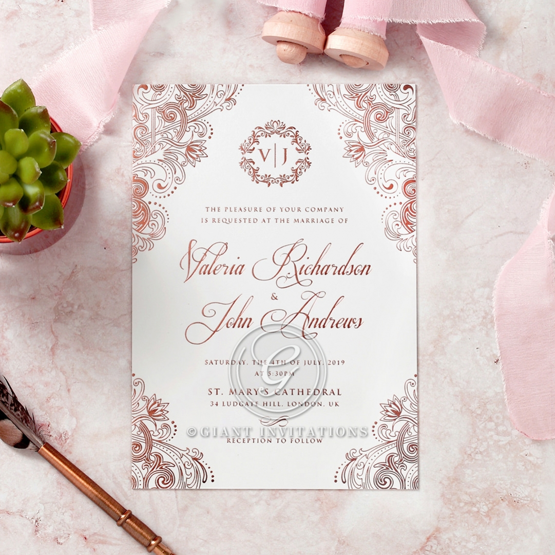 Romantically Regal Nuptial Stationary   Luxe 2017 Range