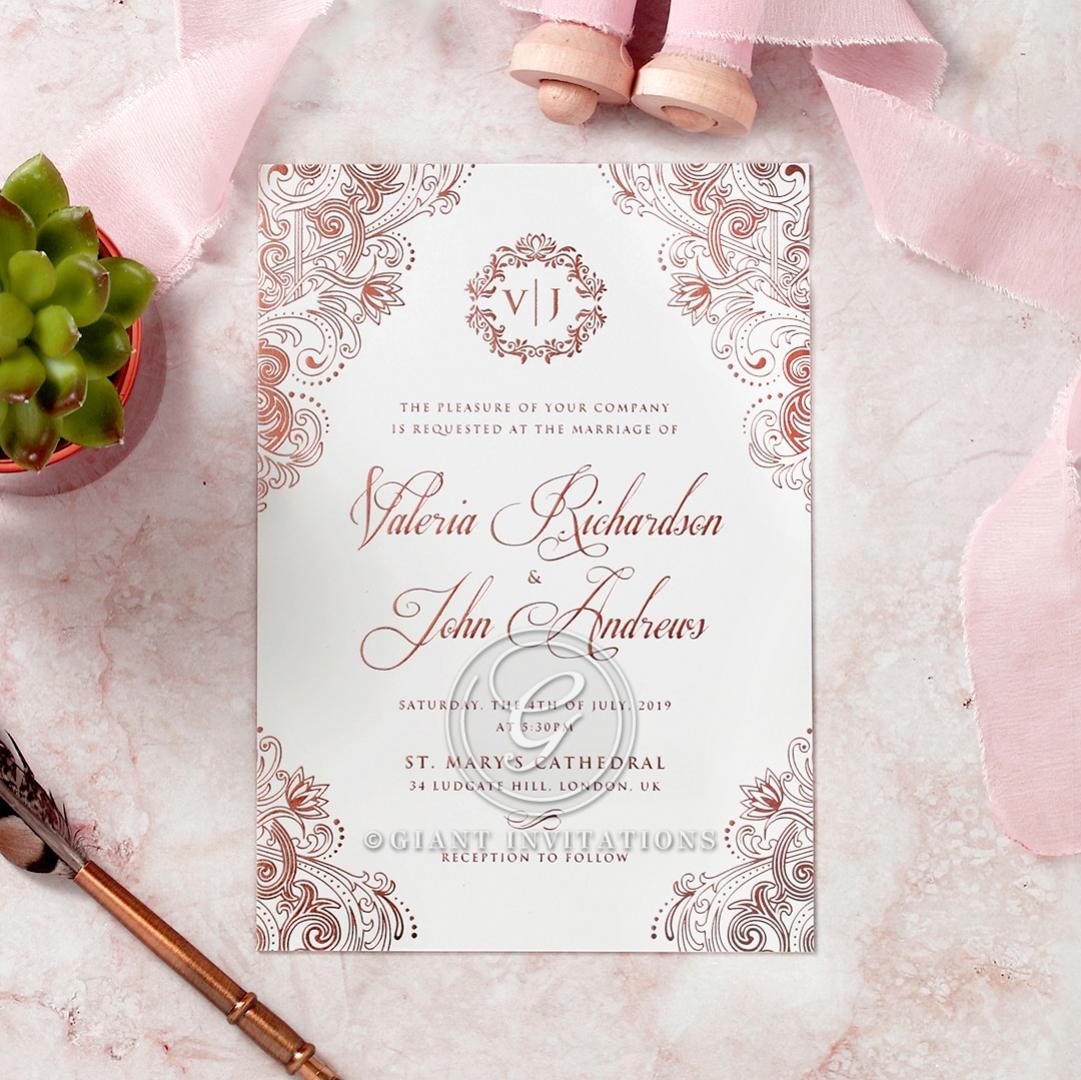 Romantically regal nuptial stationary luxe 2017 range royal embrace wedding invite card stopboris Gallery