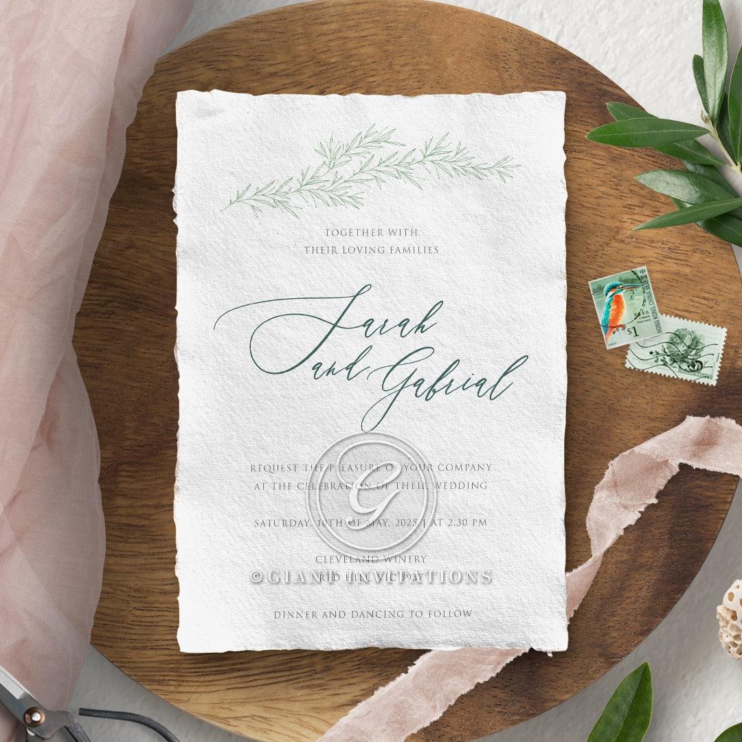 Simple Elegance Wedding Invitation