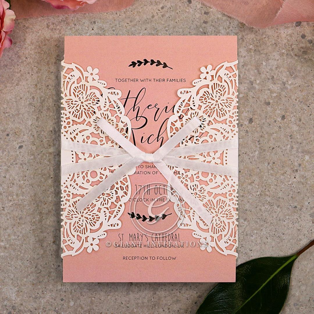 Sweet Romance Wedding Invite Card