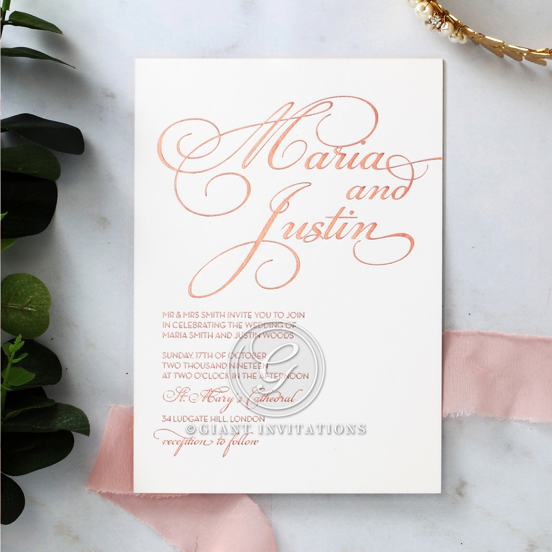 Bold Fancy Font Wedding Card   Giant 2017 Collection