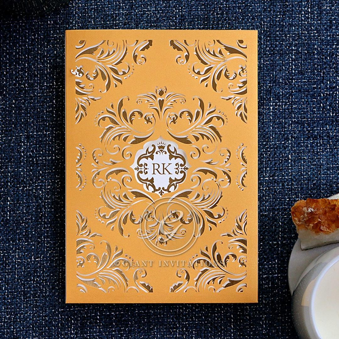 Victorian Extravagance with Foil Invitation Design