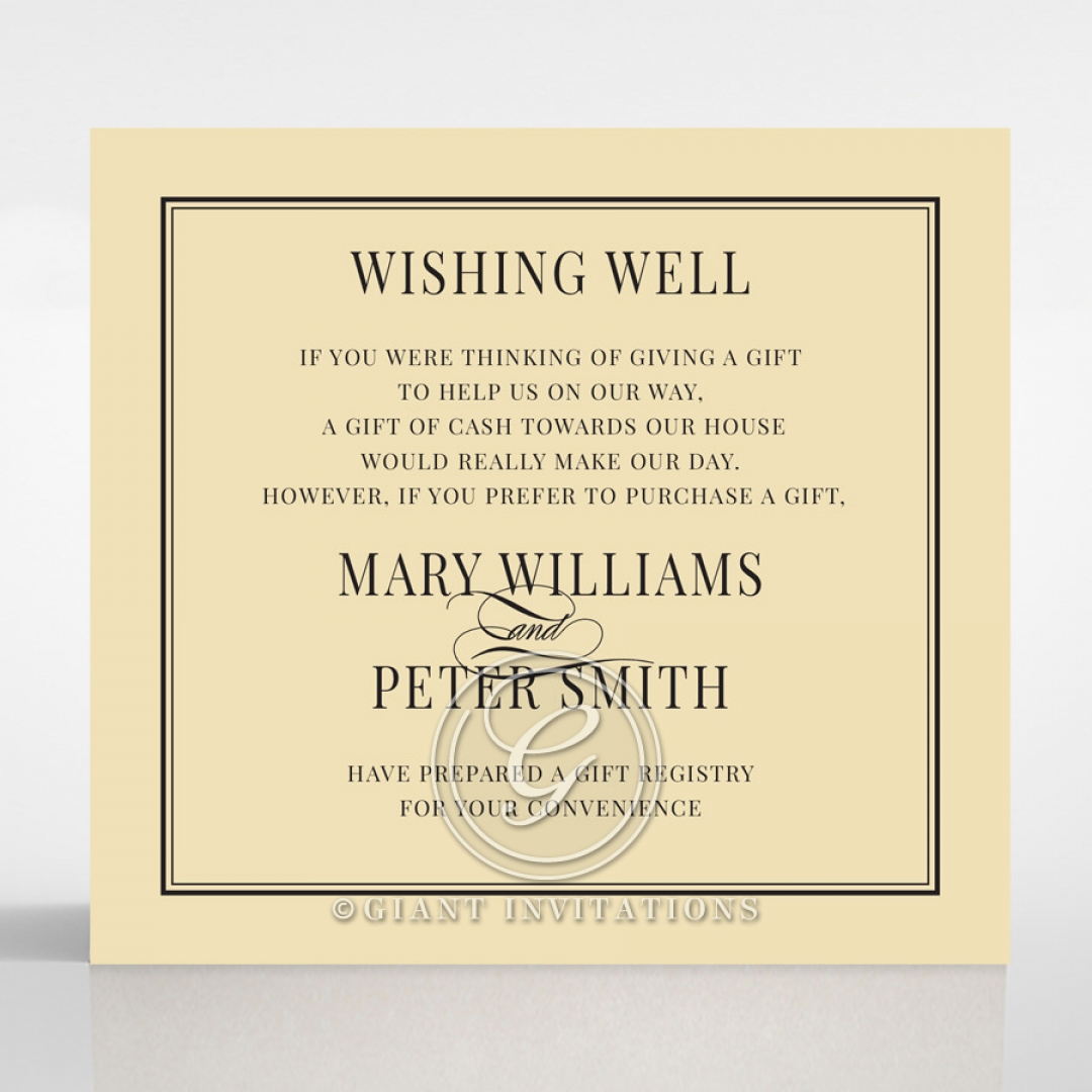 Damask Love wedding stationery wishing well invite card