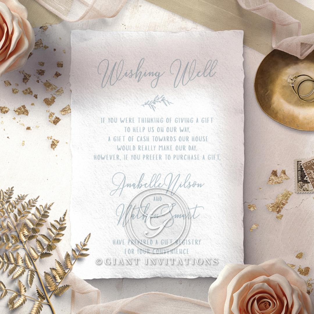 Love Circle wishing well wedding card design