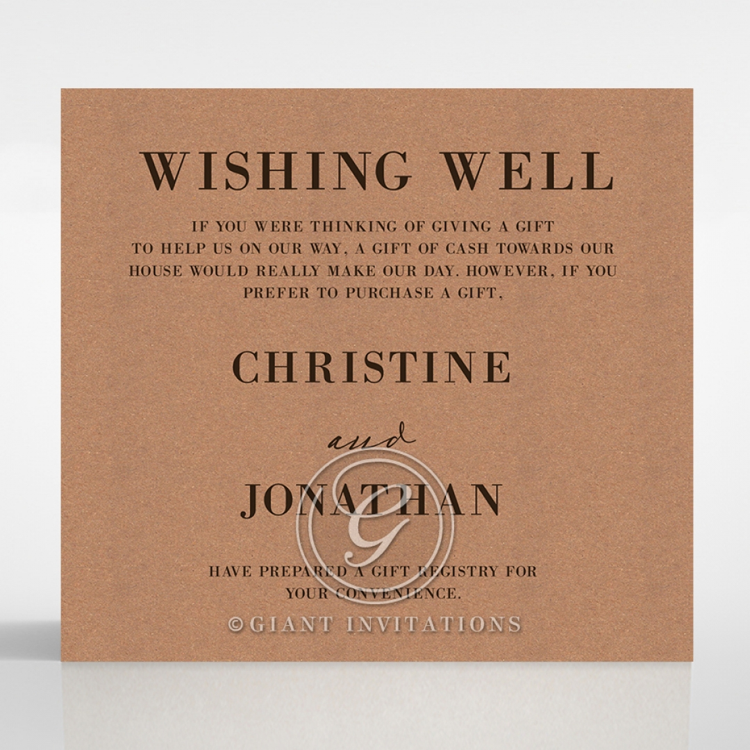Rustic Love Notes wishing well stationery invite